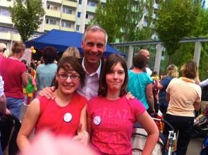 Mit Julia und Annalena zum Frühlingsfest in Weimar West.